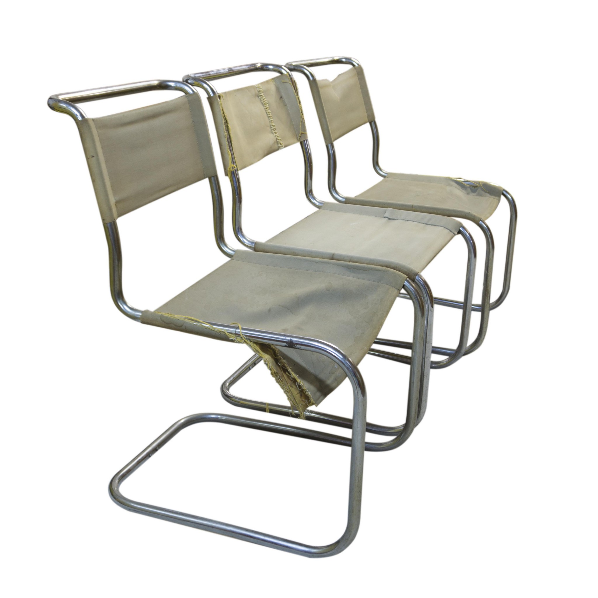 Three B33 Chairs by Marcel Breuer for Thonet
