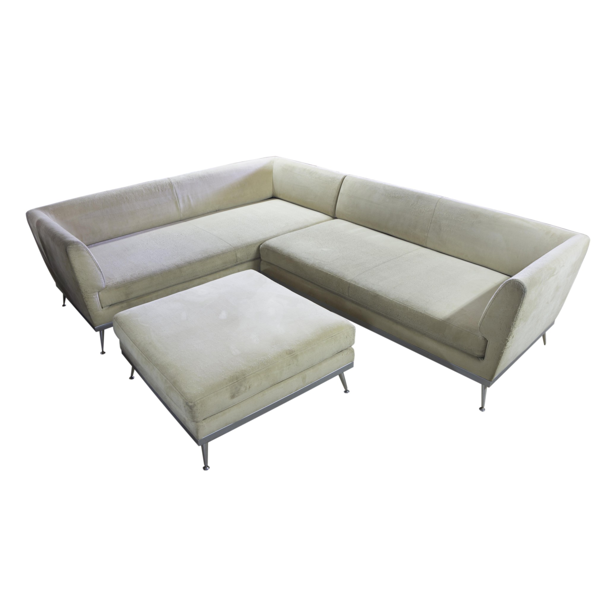Modern Corner Sofa And Footstool Ligne Roset France Antiques