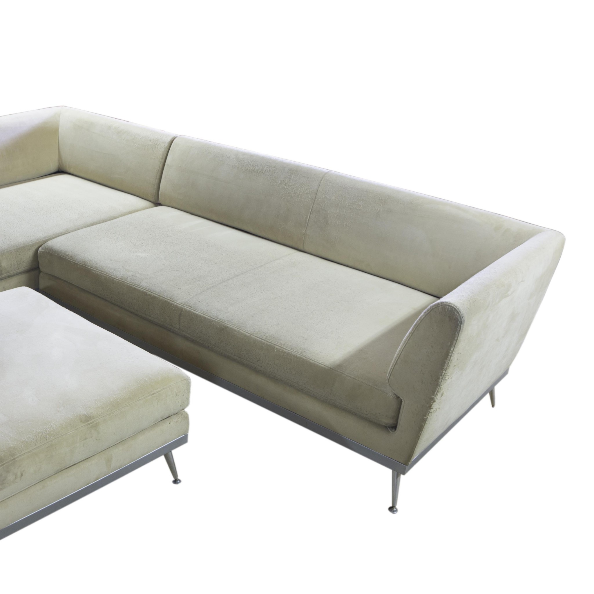 Modern corner sofa and footstool Ligne Roset France