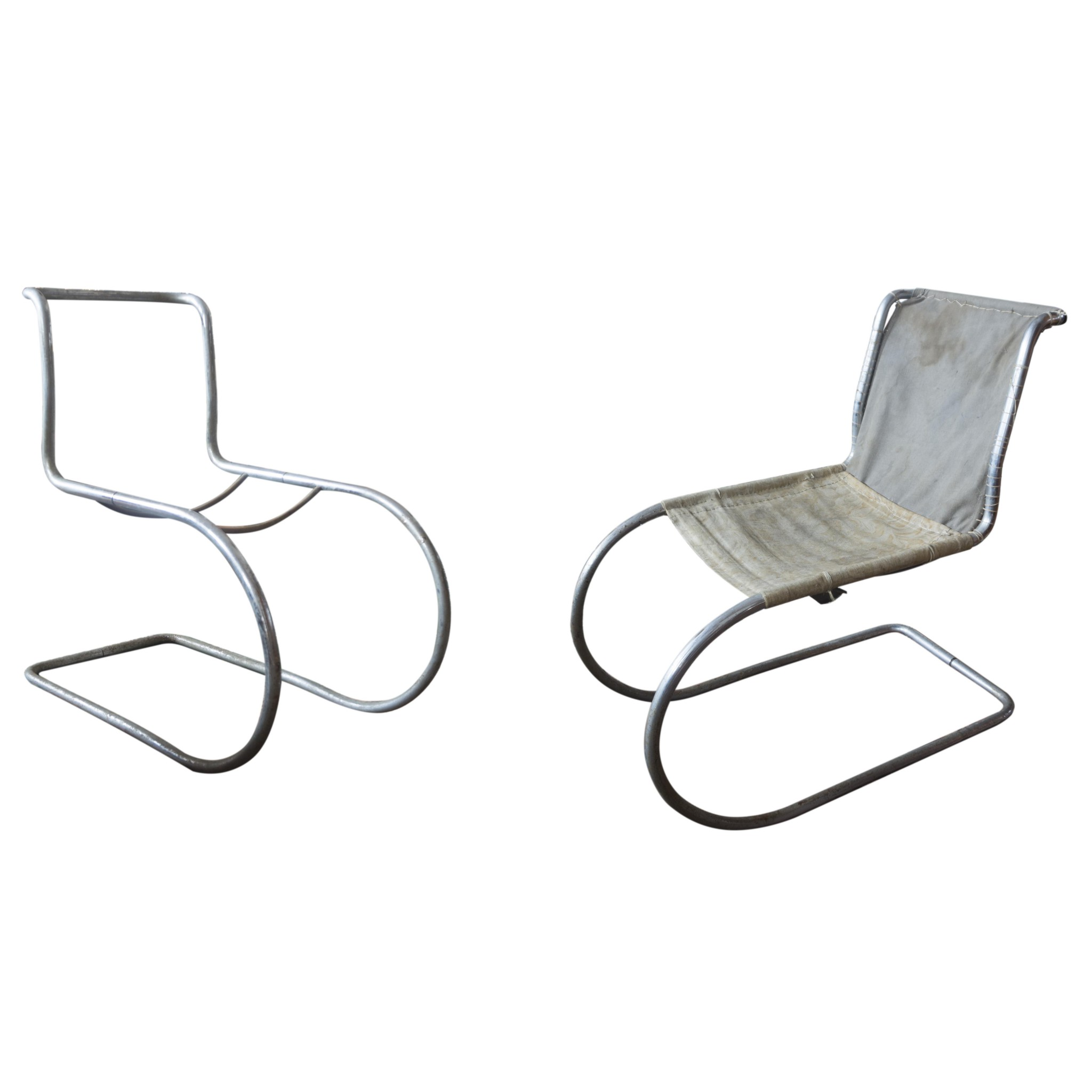 Pair of Model MR 10 chairs by Mies van der Rohe circa 1927