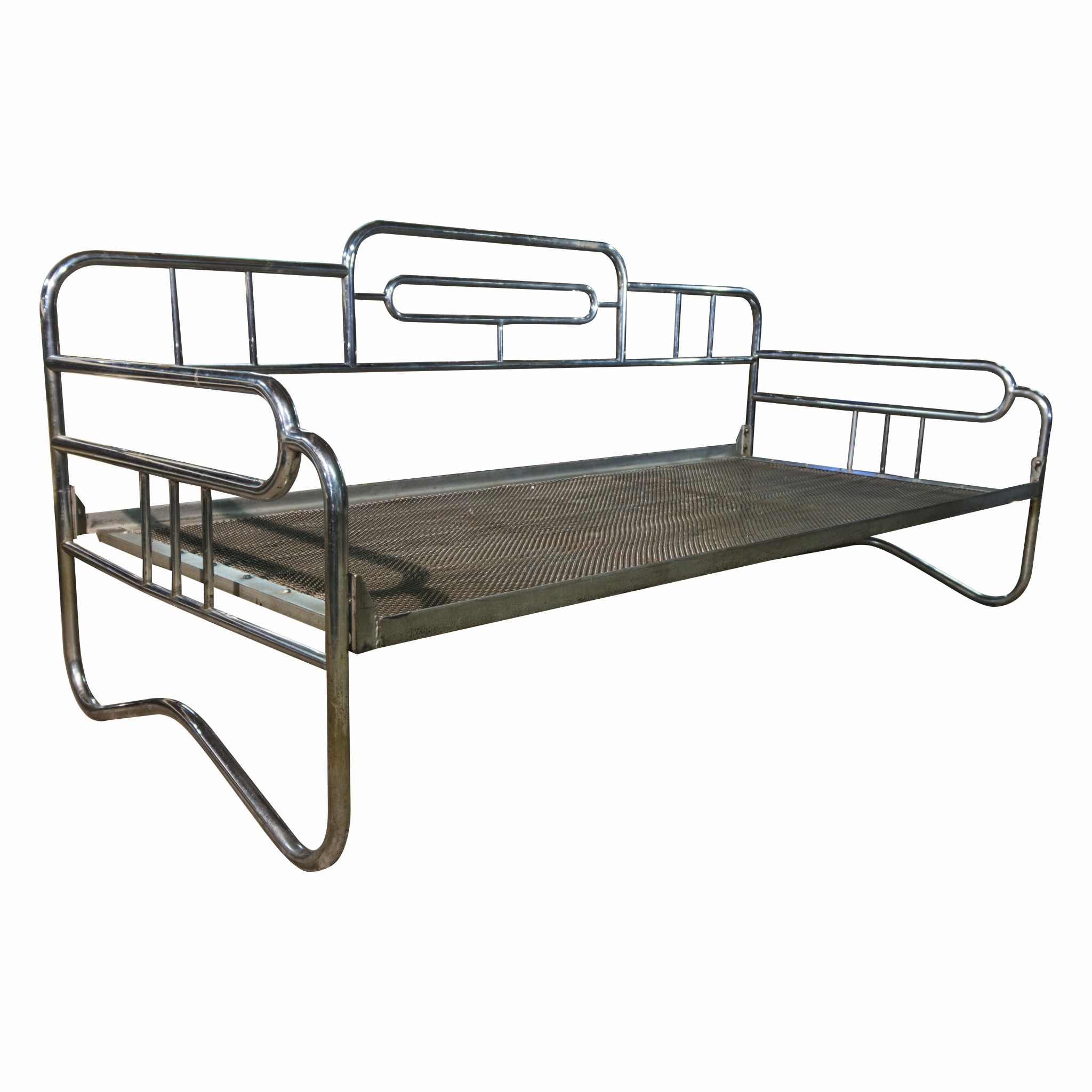 Exceptional chromed Bauhaus sofa 1930´s probably Hynek Gottwald