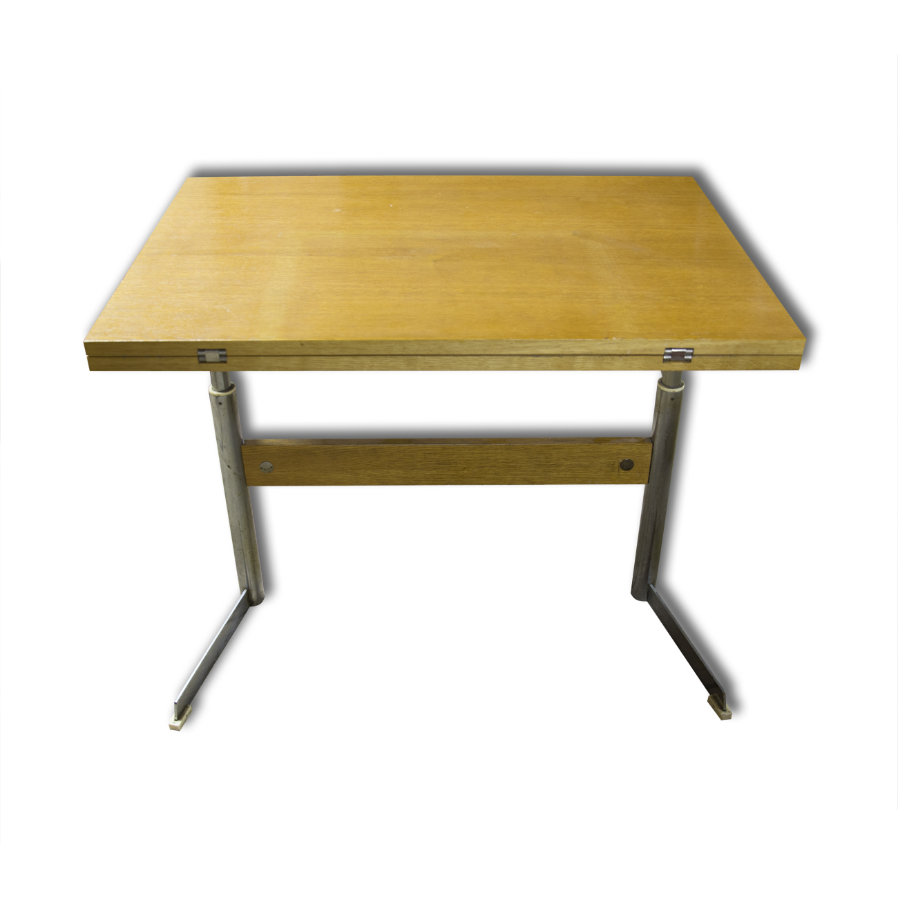 Mid Century Folding Coffee Or Dining Table On Chrome Metal Base Czechoslovakia Your20th Com Wholesale Of The Antique Furniture Your20th Com