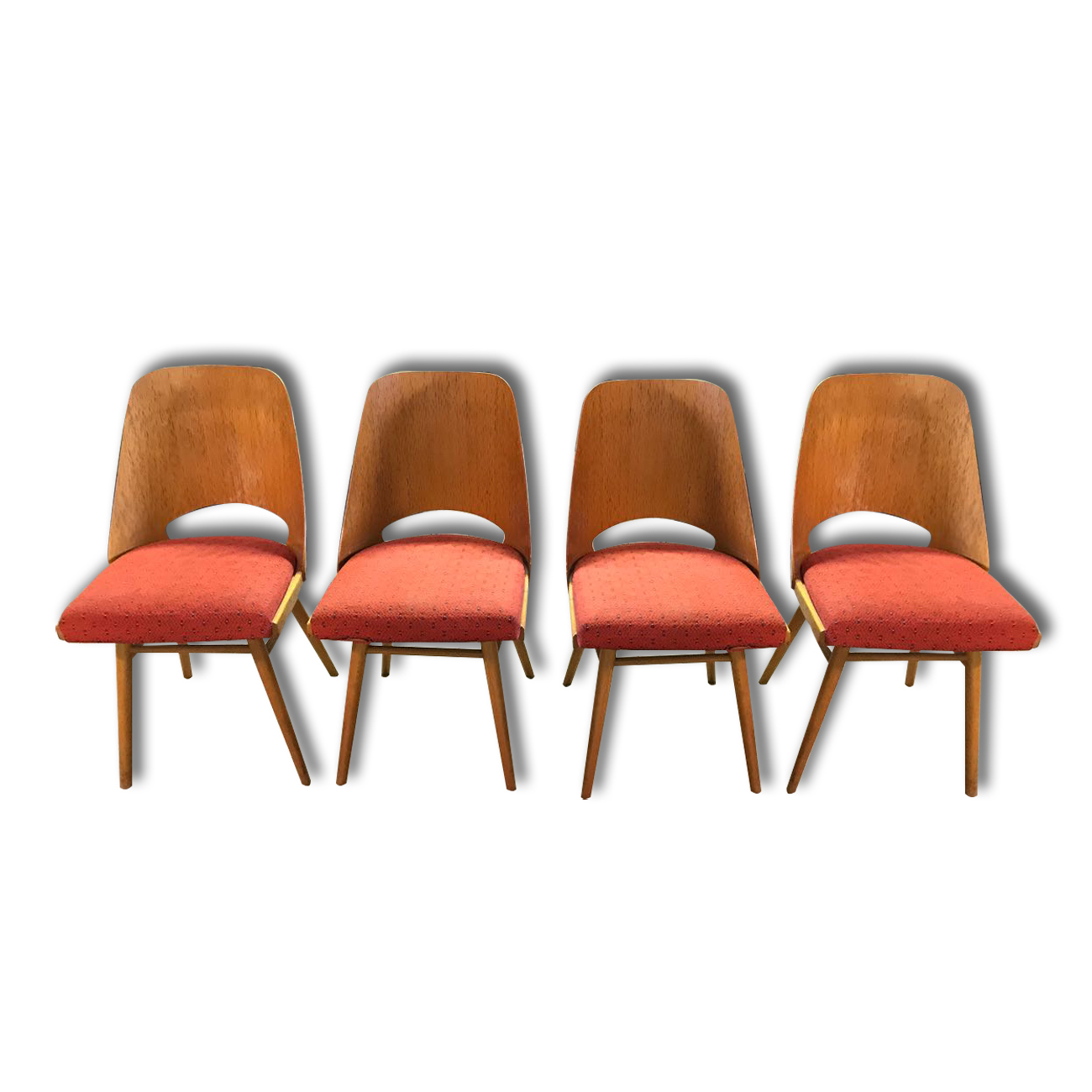 Mid Century Dining Chairs Brussels Period 1960 S