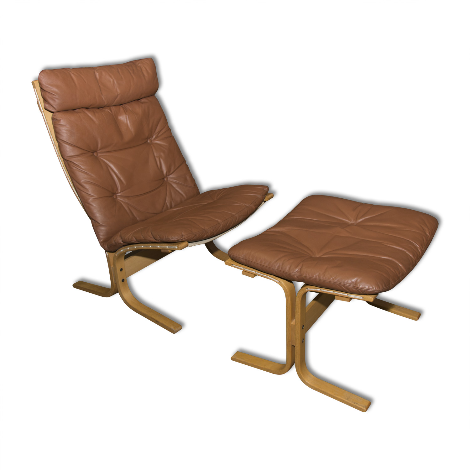 Astounding Mid Century Siesta Lounge Leather Chair And Ottoman By Gmtry Best Dining Table And Chair Ideas Images Gmtryco