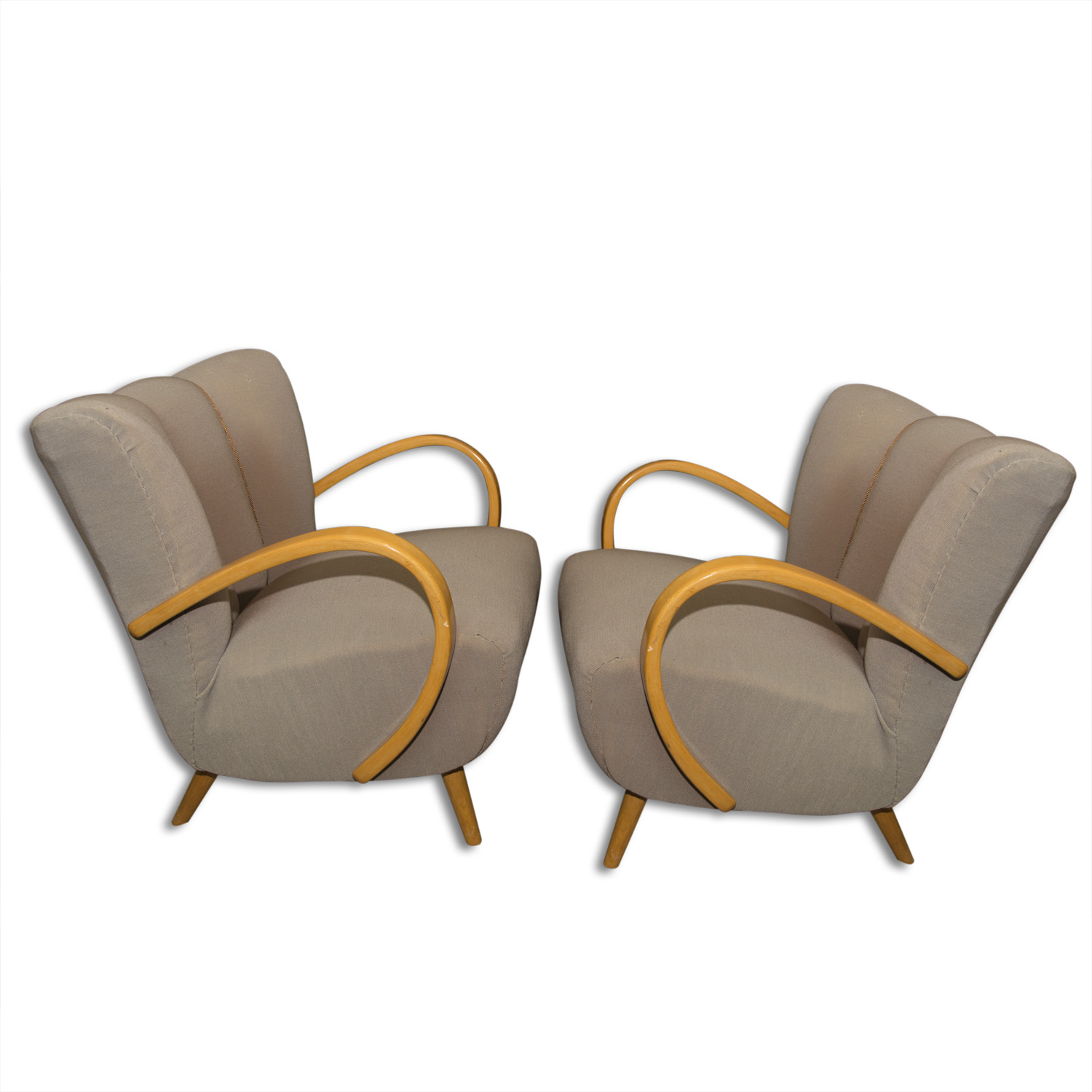 Sensational Pair Of Jindrich Halabala Lounge Cocktail Bentwood Armchairs Gmtry Best Dining Table And Chair Ideas Images Gmtryco