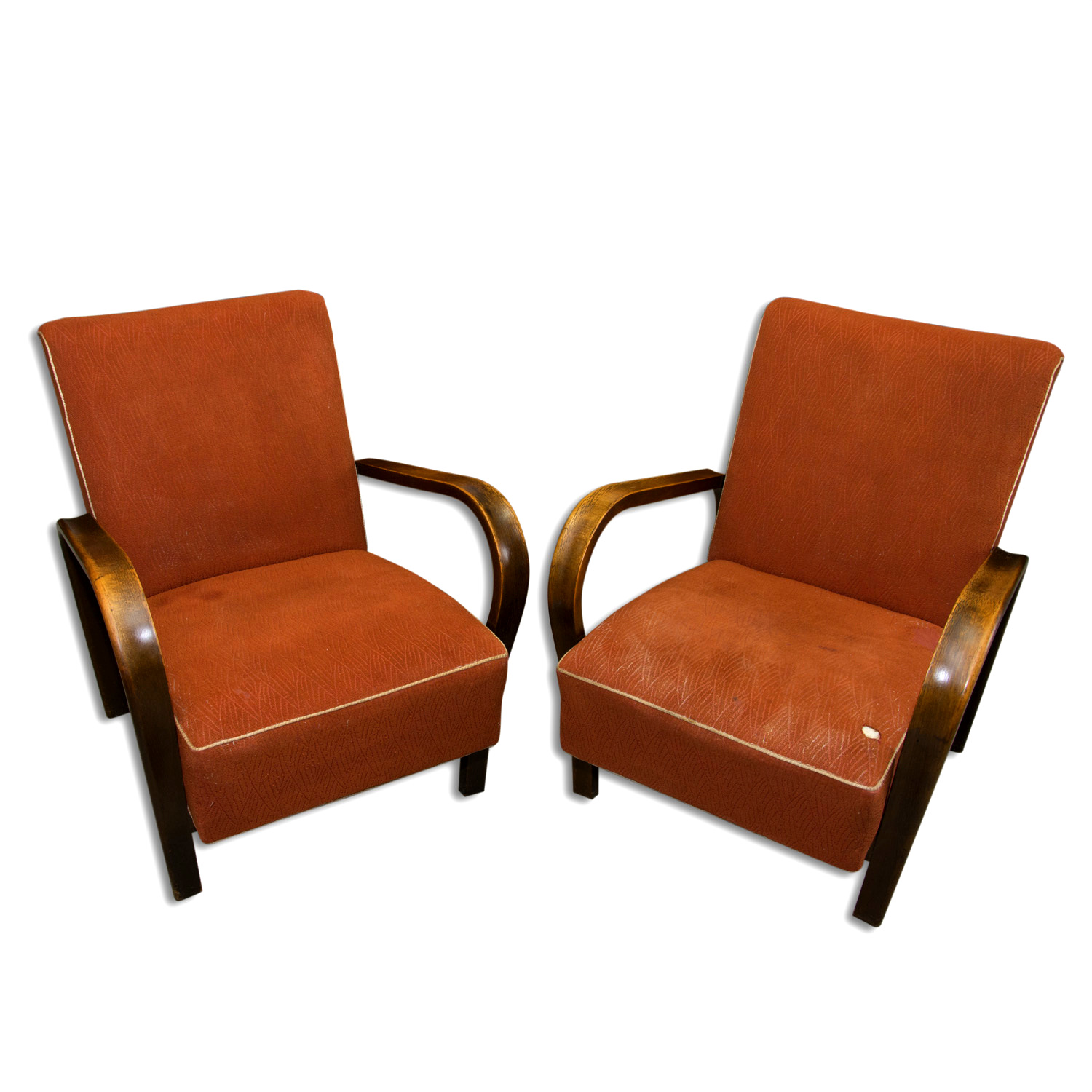 Awe Inspiring Jindrich Halabala Pair Of Art Deco Bentwood Armchairs 1940 Spiritservingveterans Wood Chair Design Ideas Spiritservingveteransorg