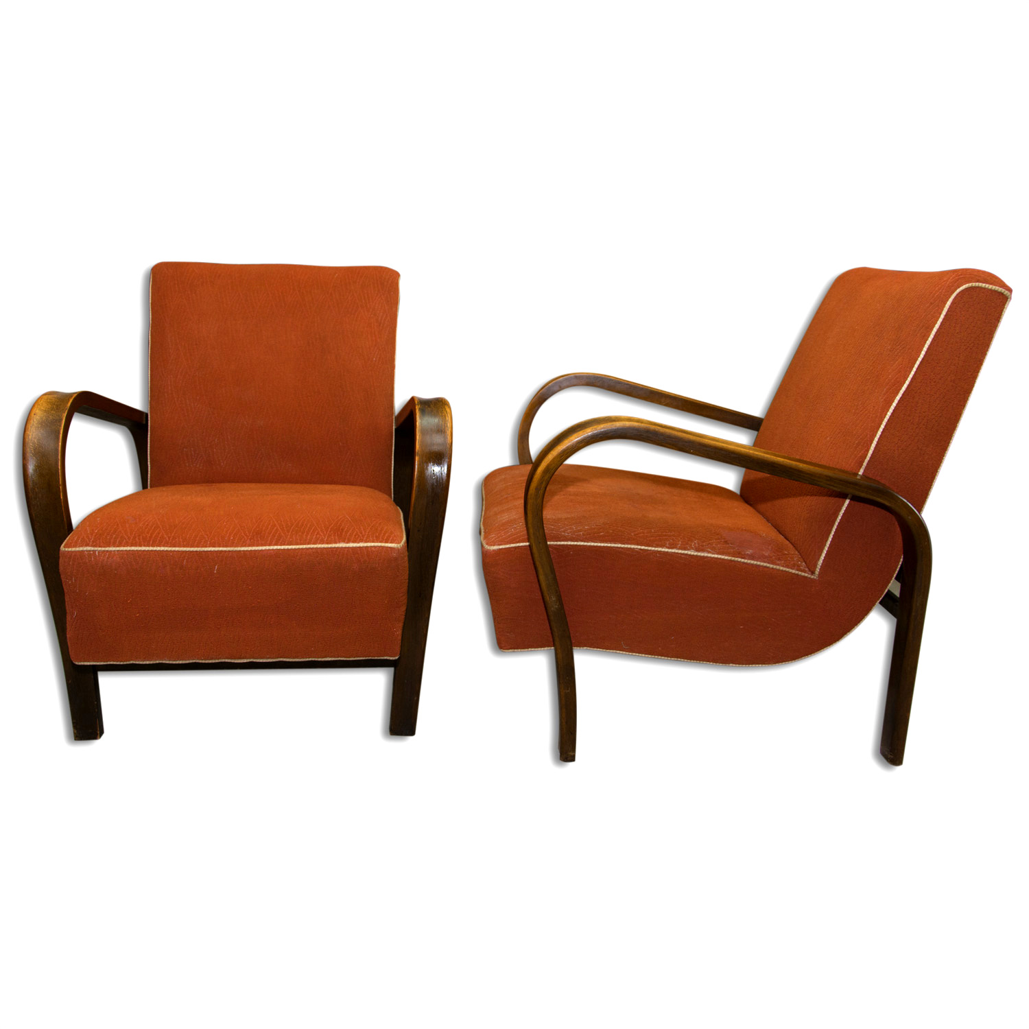 Magnificent Jindrich Halabala Pair Of Art Deco Bentwood Armchairs 1940 Spiritservingveterans Wood Chair Design Ideas Spiritservingveteransorg