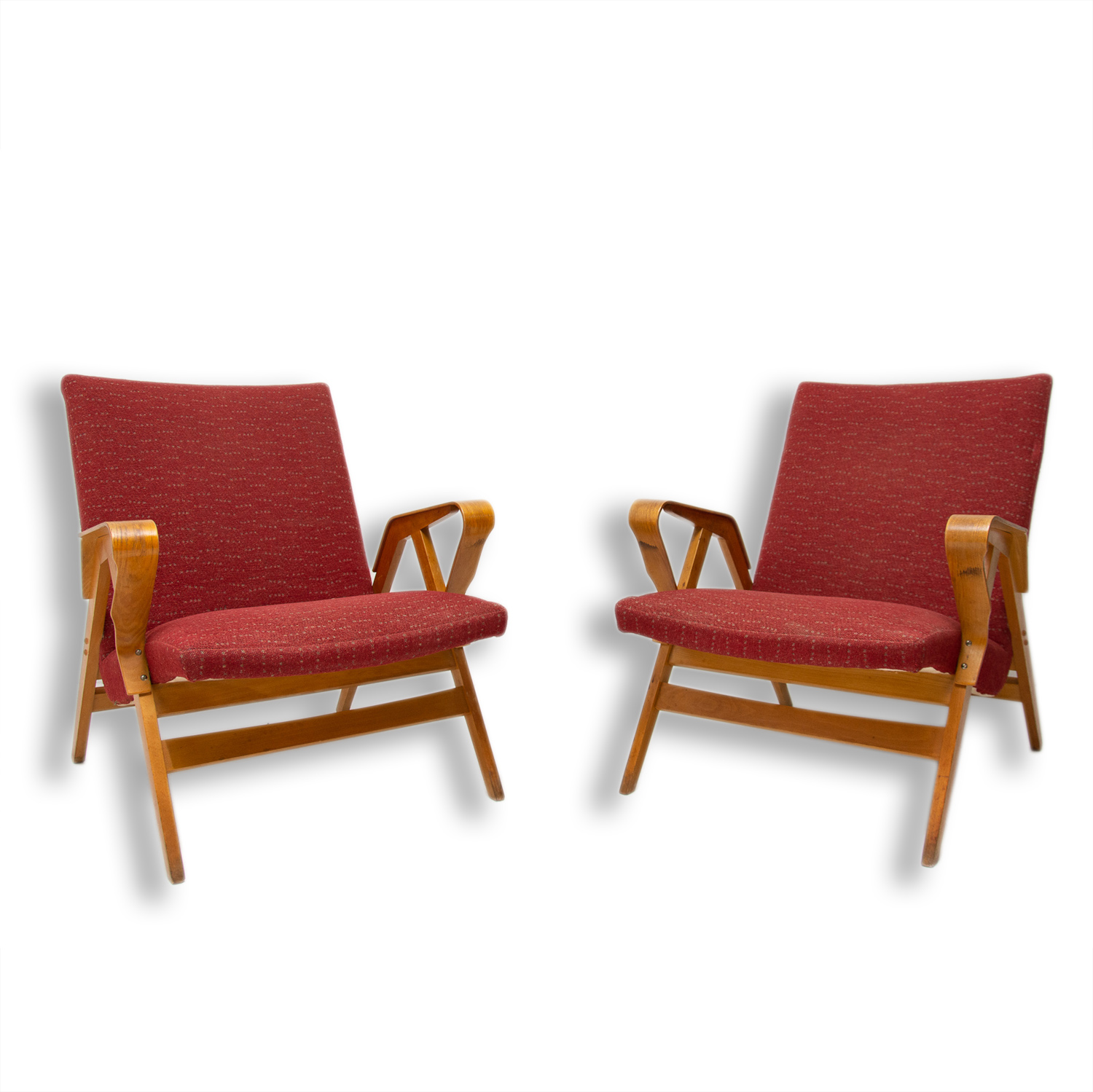 Image of: Pair Of Mid Century Bentwood Lounge Armchairs By Frantisek Jirak For Tatra Nabytok Czechoslovakia 1960 S Your20th Com Wholesale Of The Antique Furniture Your20th Com
